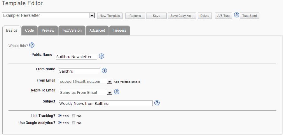 Build a Template - Sailthru Documentation
