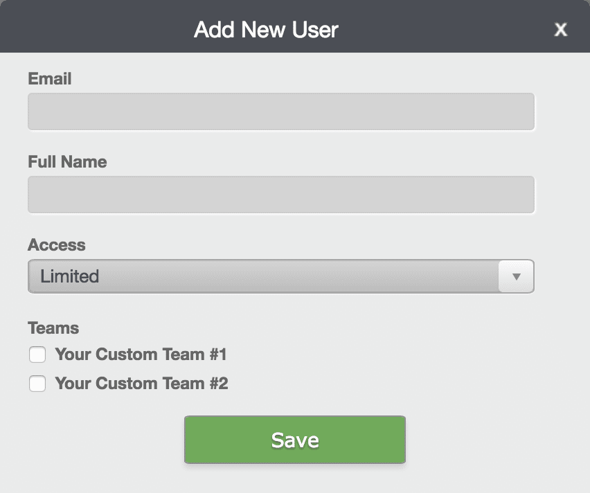add user dialog