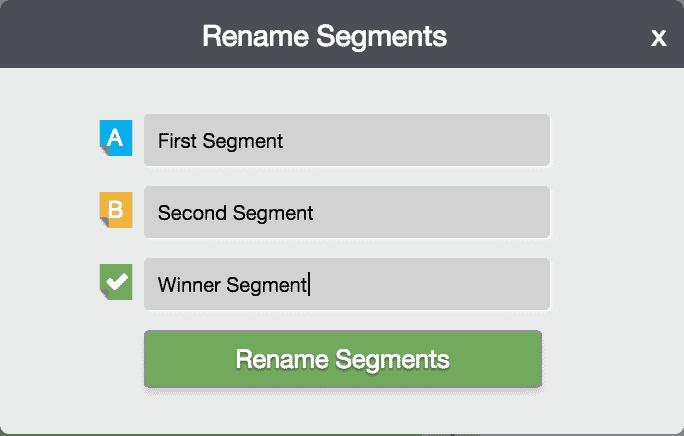 Campaigns 33 - Rename Segments