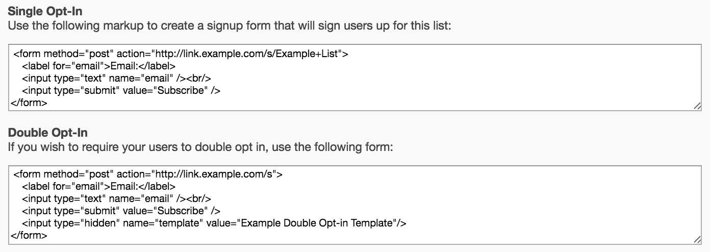 Add Users Using A Signup Form Sailthru Documentation - Email sign up template