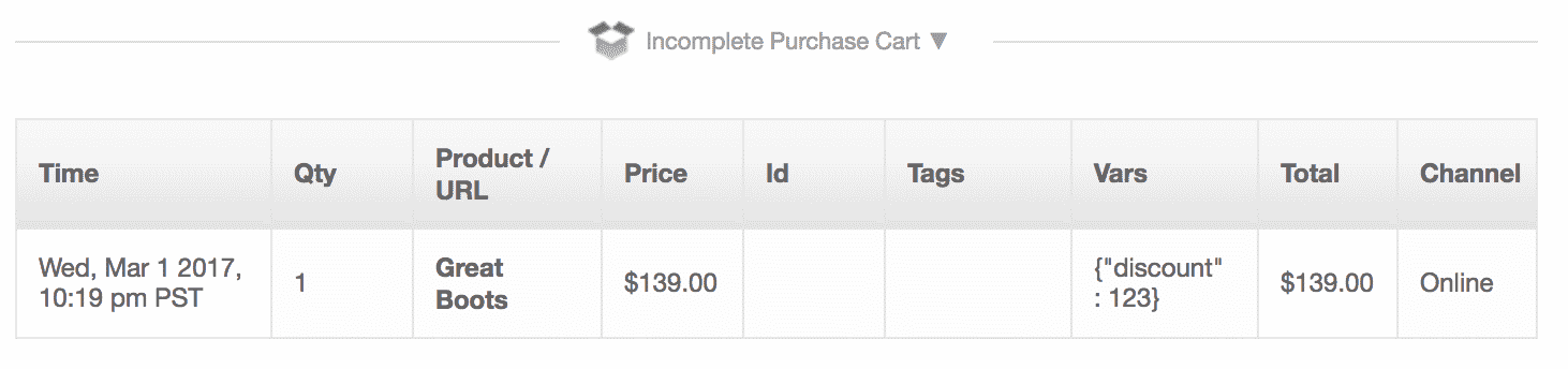 incomplete cart gtm addtocart example