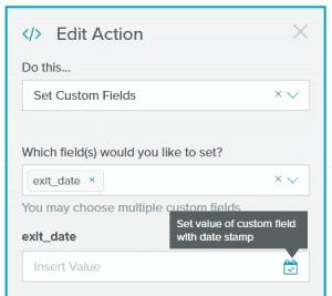 LO Set Custom Field as date