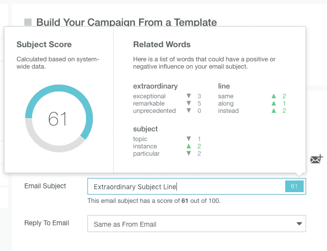 Score subject lines from Campaign Builder
