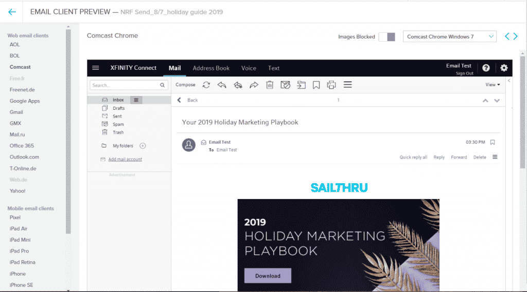 Email Client Preview Full Screen View