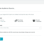 The initial Audience Builder screen.